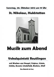 Plakat Huldstetten