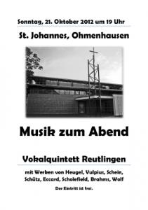 Plakat Ohmenhausen
